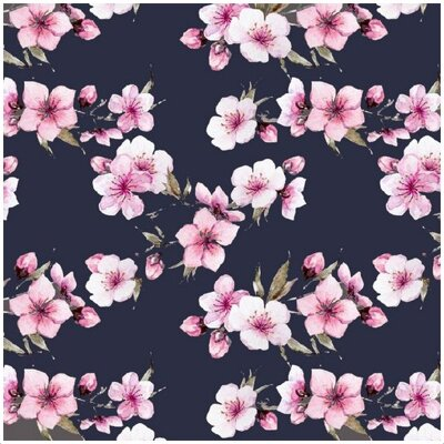 Cherry Blossoms Blue jersey