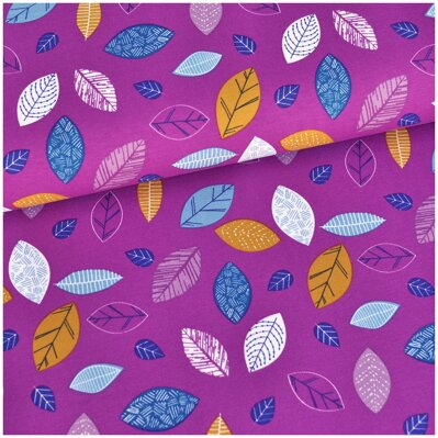Color leaves fuchsia jersey