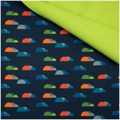 Softshell Fancy Clouds Navy