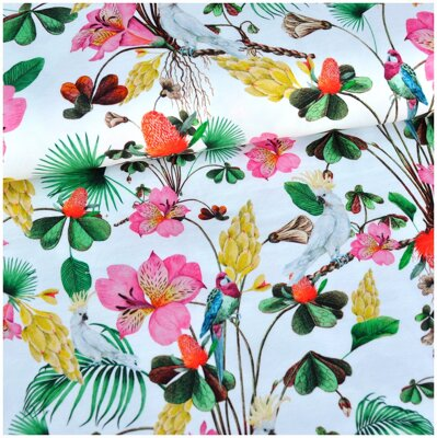 Tropical flowers jersey